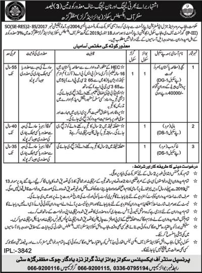 Jobs In School Education Department Govt Of Punjab 27 Apr 2019 for