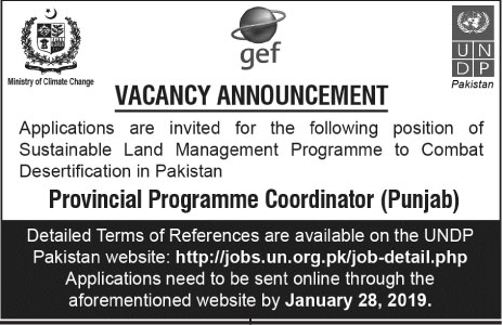 Jobs In United Nation Development Program UNDP 15 Jan 2019