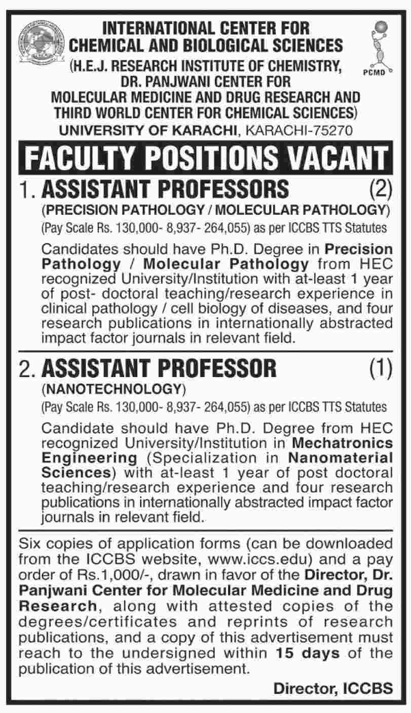 Jobs In University Of Karachi 15 Jan 2019