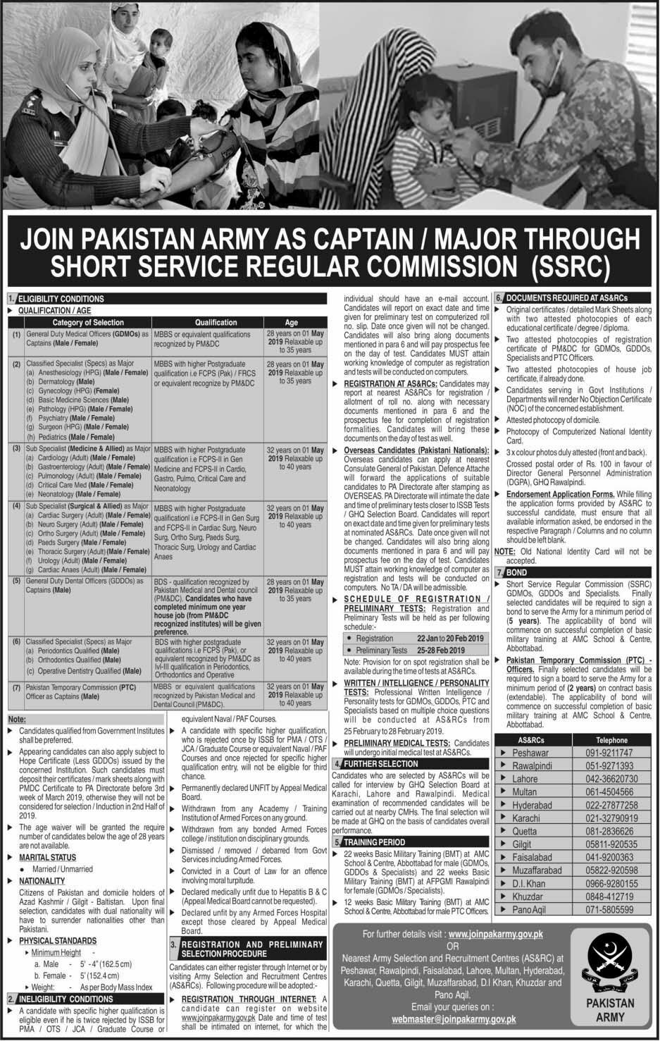 Join Pakistan Army As Captain, Major Through Short Service Regular Commission