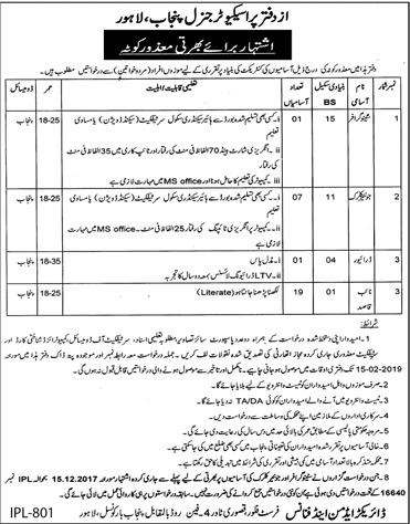 Jobs In Office Of The Prosecutor General Govt Of Punjab 01 Feb 2019