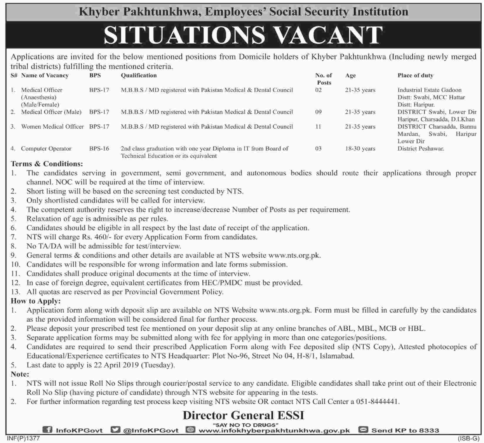 Kpk Domicile Nts Jobs Employees Social Security Institution Jobs